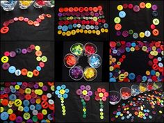 """Transient art with buttons - from Stimulating Learning with Rachel ("""",)"""