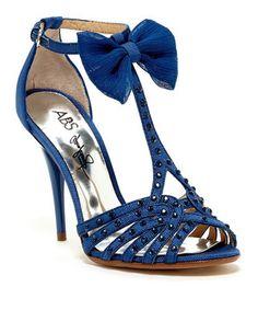 Look what I found on #zulily! Denim Blue Canary Suede Sandal by A.B.S. by Allen Schwartz #zulilyfinds