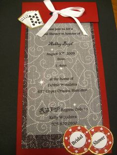 Poker party bridal shower invite - this is a fun twist on a shower Casino Theme Parties, Casino Party, Casino Games, Party Themes, Casino Night, Party Ideas, Bridal Shower Invitations, Party Invitations, Party Favors
