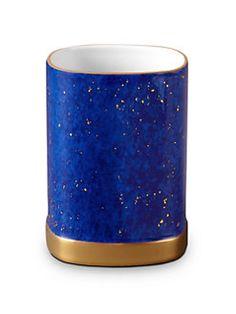 L'Objet - Lapis Porcelain & 24K Gold Pencil Cup