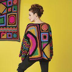 Crochet Infinity Scarf Free Pattern, Crochet Jumper, Granny Square Crochet Pattern, Moda Crochet, Crochet Yarn, Knit Crochet, Crochet Designs, Crochet Patterns, Bordado Floral