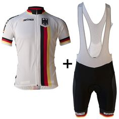 GERMANY Team Bike Cycling Jersey Bicycle Clothes Cycling Clothing Men Summer Pro Bike Jersey Ropa Ciclismo