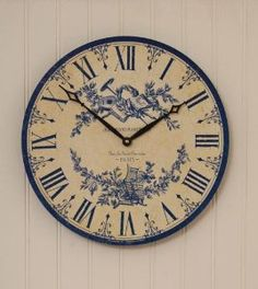 French Country Toile Bedding | Amazon.com: Timeworks French Country Blue Toile 13 inch Wall Clock ...
