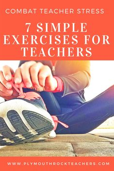 Combat Teacher Stress with these 7 Simple Exercises for Teachers. Forget spending an hour in the gym. Try these simple moves to build muscle and shred stress. Teacher Quotes, Teacher Humor, Teacher Morale, Health Teacher, Benefits Of Exercise, Teacher Style, Teacher Tools, Easy Workouts, Cardio Workouts
