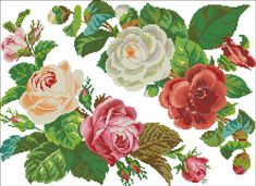 Bead Embroidery Patterns, Beaded Embroidery, Cross Stitch Embroidery, Cross Stitch Rose, Cross Stitch Flowers, Quilling, Needlepoint, Best Gifts, Retro