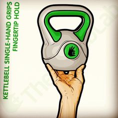 Illustration for an upcoming information sheet on the various grip techniques used when kettlebell training. #kettlebell #exercise #strength...