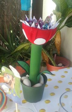 Planta Piraña con dulces