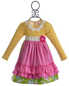 Giggle Moon Apron Dress in Glory Shines $49.00