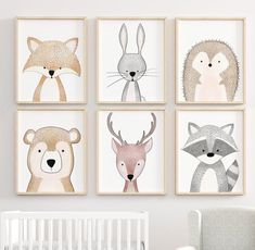 Your marketplace to buy and sell handmade items. - Forest Nursery Art Prints, Forest Forest Nursery Decor, Nursery Prints, Nursery Wall Art, Forest An - Forest Nursery, Woodland Nursery Decor, Woodland Animal Nursery, Tier Wallpaper, Animal Wallpaper, Nursery Prints, Nursery Wall Art, Art Mural, Art Art