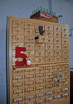 72 Drawer Library Index Card File Cabinet on Etsy, $950.00