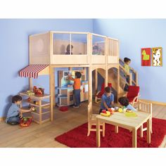Guidecraft Market Loft Extension Kit - Indoor Play Equipment at Hayneedle