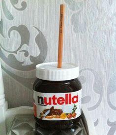 Origineller Spitzer aus einem Nutella Glas ~ Original sharpener made of a Nutella glass