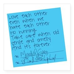Grey's Anatomy: Post It Square Sticker 3