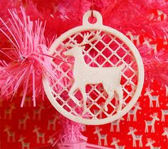 deer ornament - 3ders.org - 3D print your own Advent calendar and Christmas ornaments at home | 3D Printing news