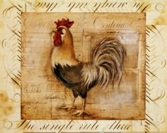 Rustic Farmhouse Rooster II Posters van Kimberly Poloson bij AllPosters.nl
