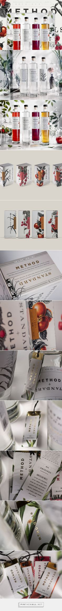 Method + Standard Vodka packaging design by Device Creative Collaborative (USA) - http://www.packagingoftheworld.com/2016/09/method-standard-vodka.html