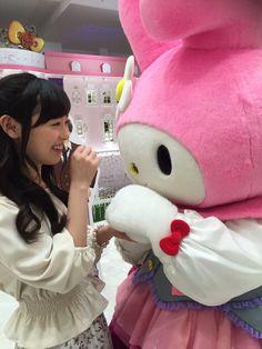 福原遥スタッフ(公式) @haruka_staff  10月3日 AbemaTVご覧頂き、 ありがとうございました(^^) 放送終了後、大好きなマイメロと撮ってもらいました