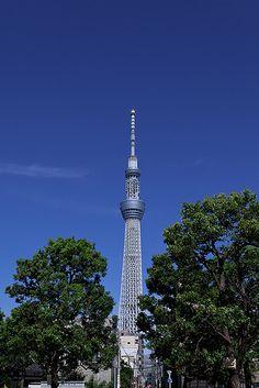 The new sightseeing spot in Tokyo.  Tokyo Sky Tree. #tokyo #japan
