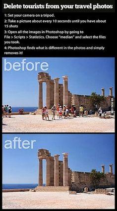 Como remover turistas das fotos de pontos turísticos