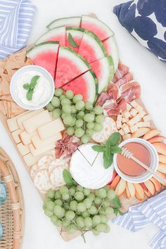 Charcuterie Recipes, Charcuterie Platter, Charcuterie And Cheese Board, Cheese Boards, Dip Recipes, Healthy Recipes, Summer Recipes, Cooking Recipes, Summer Ideas