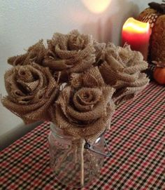 Hey, I found this really awesome Etsy listing at http://www.etsy.com/listing/165258784/burlap-roses-rustic-wedding-shabby-chic