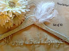 Wedding Dress Hanger Covered in pinkgoldwhitesilver by HangUpHigh, $289.00