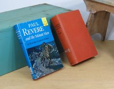2 Vintage Paul Revere Historical Books The by 13thStreetEmporium, $20.00