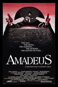 Amadeus (1984)Antonio Salieri descends into madness as he tries to compose music as wonderful as his divinely blessed rival, Wolfgang Amadeus Mozart. Leaving June 20