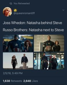 Reason #99999999 why the Russo brothers are superior in every way to Whedon.