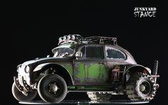 The completed Junkyard Stance Tamiya Sand Scorcher, with a Porsche Twin Turbo Engine !