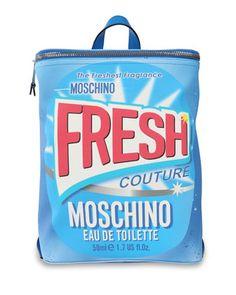 b5b2a8b074 Moschino Fresh Couture Packaging Printed PVC Backpack