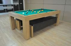 Fortuna Duo Pool Dining Table   6ft, 7ft Mid-Oak Finish   £1790.00
