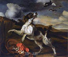 "Jan Baptist Weenix (1621 -1660) ""Пейзаж с английским спаниелем""."
