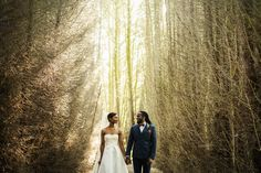 Tropical-Inspired Wedding in the English Countryside: Anisa + Damien