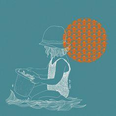 alice dufay: Illustration d'été pour LAIT FRAISE