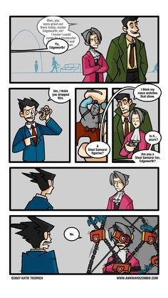 AWKWARD ZOMBIE - And Key ahh this is soo funny!! I love edgeworth :D