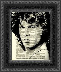 Jim Morrison The Doors Jim Morrison Art Wall Decor Art Print Dictionary Art Print Home Decor Dictionary Page Dictionary Print