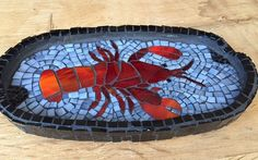 Mosaic Art, Mosaics, Lobsters, Mosaic Projects, Yard Art, Cigars, Ash, Glass Art, Tray