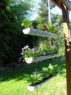 Drain pipe herb garden