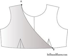 Frills and Flares: Pattern Draft---Empire Waist Dress With Overlapping Front Bodice ^