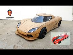 My new video on a koenigsegg agera. I make this sports car with cardboard and a DC motor. It's really amazing and interesting project. This car is very beaut. Cardboard Car, Cardboard Playhouse, Cardboard Crafts, Cardboard Furniture, Chevrolet Camaro 1969, Camaro Car, Paper Model Car, Paper Car, Pagani Car