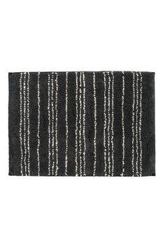Dywanik łazienkowy - Antracytowoszary/Biały wzór - HOME | H&M PL 1