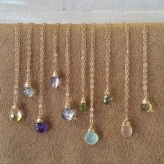 Colorful gemstone necklaces by ATELIER Gaby Marcos