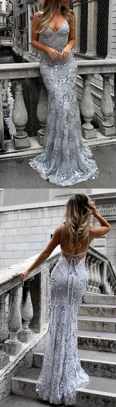 Sexy prom dress,Open Back Prom Dress,Cheap Prom Dress,Long prom dresses 2018,silver evening gowns,silver prom dress,backless prom dress