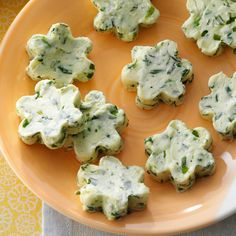 Fresh Herb Butter Recipe -I love impressing dinner guests with flavored butter. I mix up a big batch, and then freeze it so when company comes, this special spread is ready to go. Cut them in different shapes for a little fun. —Pam Duncan, Summers, Arkansas
