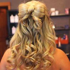 8th grade promotion hair:) <3