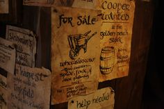 the green dragon inn, Hobbiton, Matamata, New Zealand // Ahhhh, they even have notes?! // They must have had a great time making these. :D
