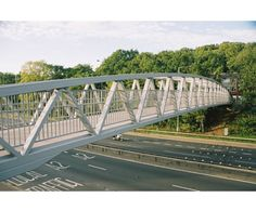52m span Warren truss steel footbridge, A2 Midhurst Hill