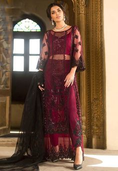Online Wholesale Black Net Party Wear Pakistani Suits Rosemeen ZC 32005 Set By Fepic Pakistani Suits Online, Salwar Suits Online, Designer Salwar Suits, Pakistani Outfits, Indian Outfits, Designer Dresses, Designer Wear, Indian Clothes, Patiala Dress