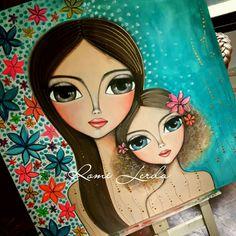 Art Pop, Love Painting, Painting & Drawing, Mother Art, Indian Folk Art, Hippie Art, Mural Art, Whimsical Art, Art Plastique
